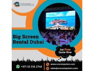 High Quality LED Screen Rental Dubai With Competitive Price