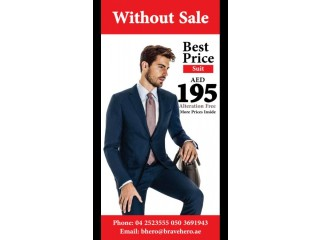 Great selection of men's suits with Express Alteration Service