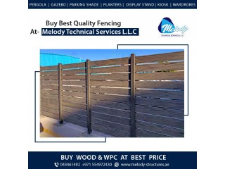 WPC Fence in Jumeirah | WPC Fence Suppliers Dubai | WPC Fence Garden Fence
