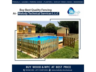 Wooden Fence Suppliers in Dubai | Pool Fence | Garden Area Fence in UAE