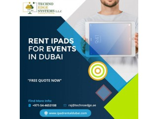 Hire Advanced iPads in Dubai for your Events